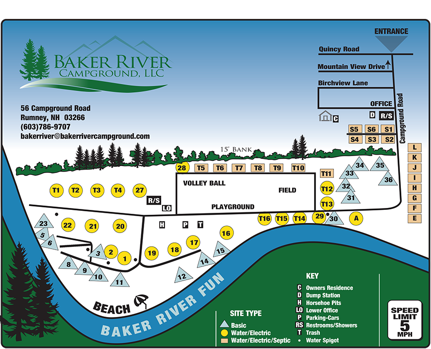 Baker River Campground Map